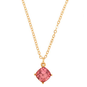 October Birthstone Pendant Necklace - Rose,