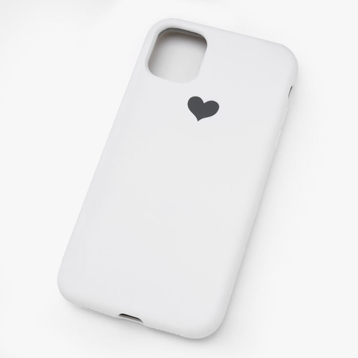 White Heart Phone Case - Fits iPhone 11,