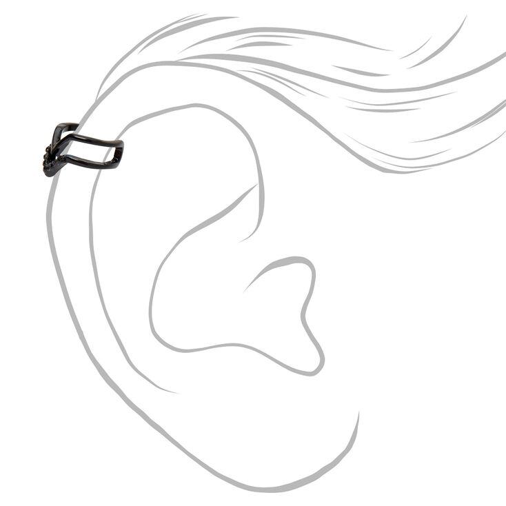Black Textured Ear Cuffs - 3 Pack,