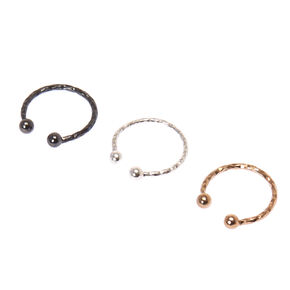 Faux Mixed Metal Laser Cut Nose Rings,