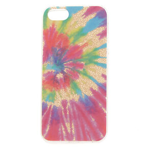 Tie-Dye Glitter Phone Case - Rainbow,