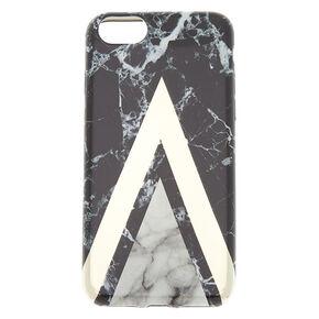 Black Geometric Marble Phone Case - Fits iPhone 6/7/8,