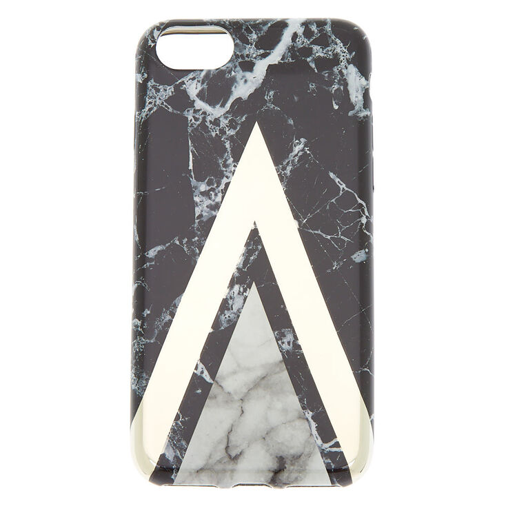 best loved 33b67 f1131 Black Geometric Marble Phone Case - Fits iPhone 6/7/8