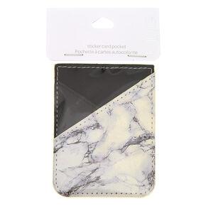Marble Stick On Card Pocket,