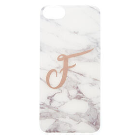 """Marble """"F"""" Initial Phone Case,"""