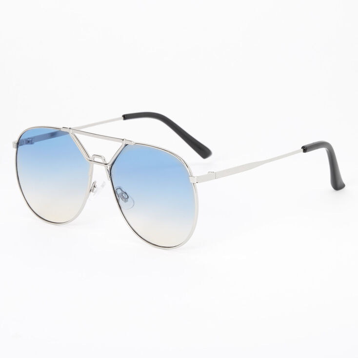 80s Fashion— What Women Wore in the 1980s Icing Vintage 80s Aviator Sunglasses - Blue $16.99 AT vintagedancer.com