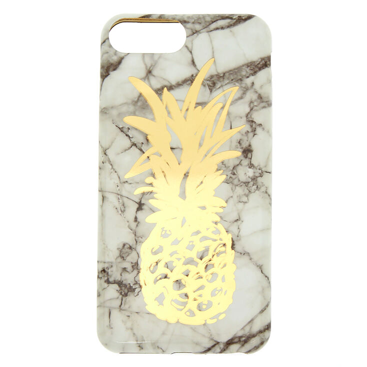 Marble Pineapple Phone Case - Fits iPhone 6/7/8 Plus,