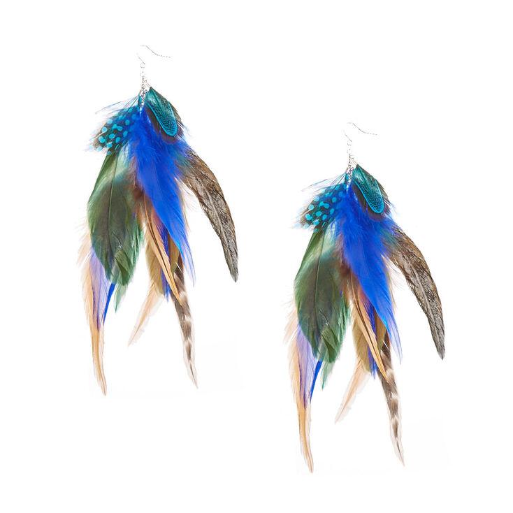 Wild Feather Drop Earrings,