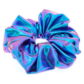 Metallic Mermaid Hair Scrunchie - Lilac Purple,