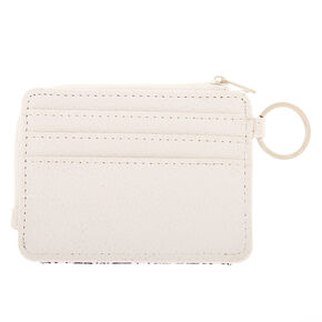 Snake Print Coin Purse - White,
