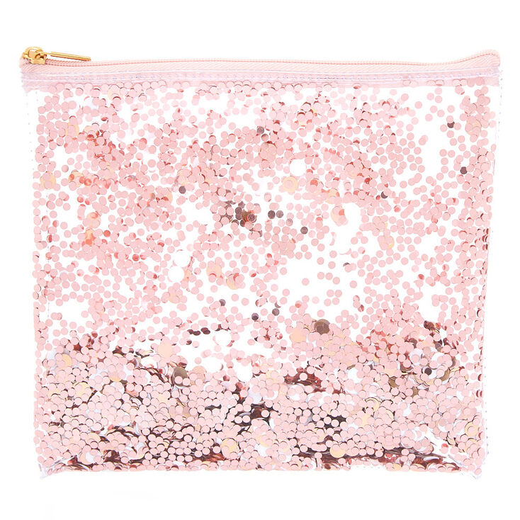 Shakey Confetti Pencil Case - Rose Gold,