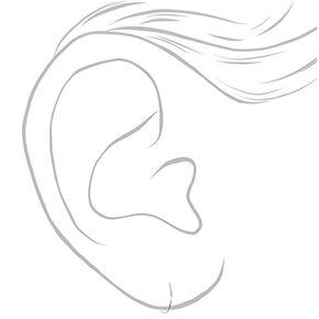 Sterling Silver Graduated Sleek Hoop Earrings - 3 Pack,