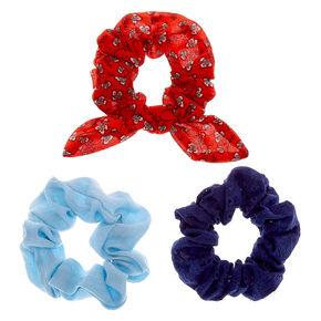 Western Chic Hair Scrunchies - 3 Pack,