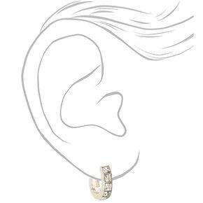 Silver 12MM Hoop Earrings,