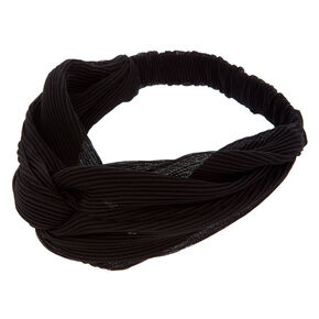 Ribbed Knot Headwrap - Black,