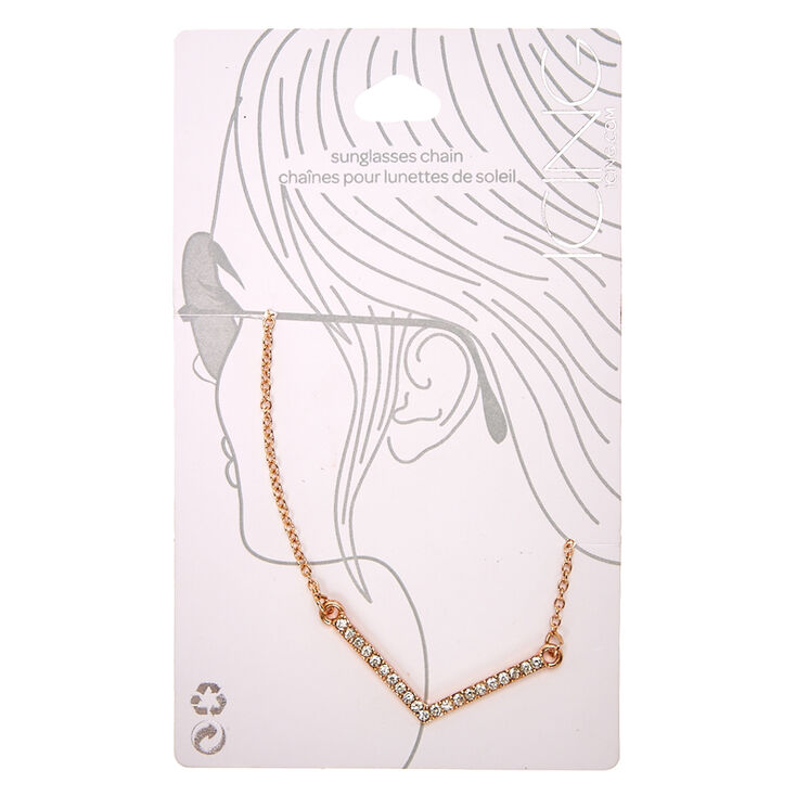 Rose Gold Diamond Angle Sunglasses Chain,