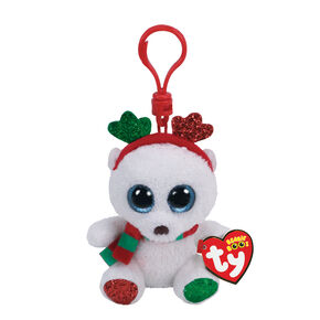 Ty Beanie Boo Frost the Chrismtas Bear Keyring Clip,