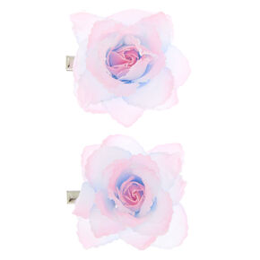Pastel Ombre Flower Hair Clips - Pink, 2 Pack,