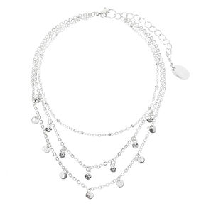 Silver Belly Dancer Multi Strand Chain Anklet,