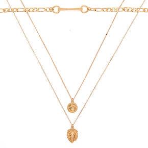Gold Lion Multi Strand Necklace,