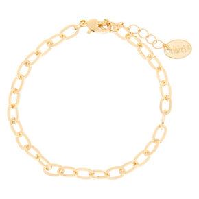 Gold Charm Chain Bracelet,
