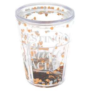 Shaker Resting Bride Face Shot Glass - Rose Gold,
