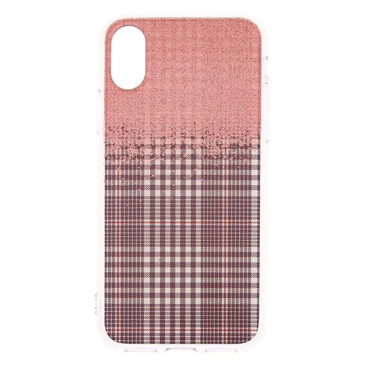 Glitter Houndstooth Phone Case - Fits iPhone X/XS,