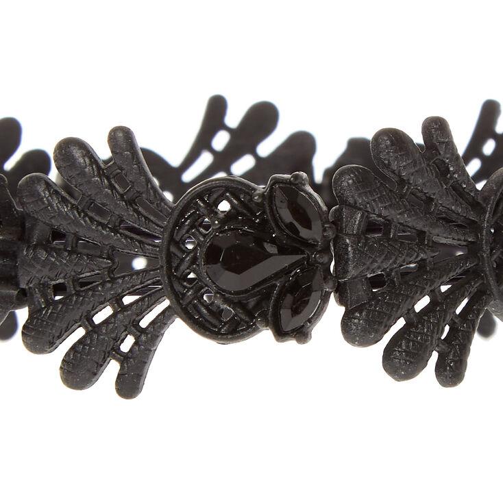 Black Filigree Bracelet,