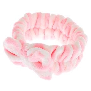 Striped Makeup Headwrap - Pink,