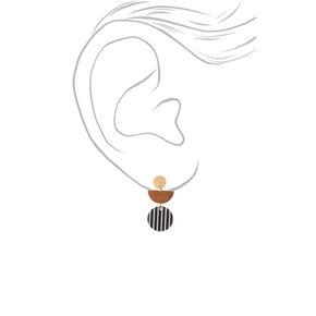 """Wood & Resin 1.5"""" Drop Earrings,"""