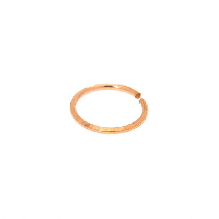 Sterling Silver Rose Gold 20G Lazer Cut Hoop Nose Ring,