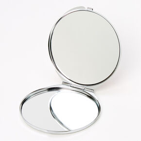 Floral Compact Mirror - Pink,