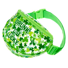 Drunk But Lucky Clear Fanny Pack,