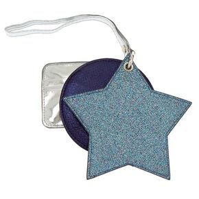 Metallic Glitter 3 Piece Wristlet - Blue,