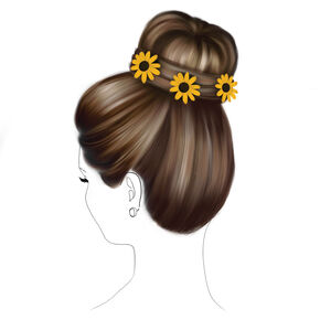 Sunflower Floral Bun Hair Tools Kit,