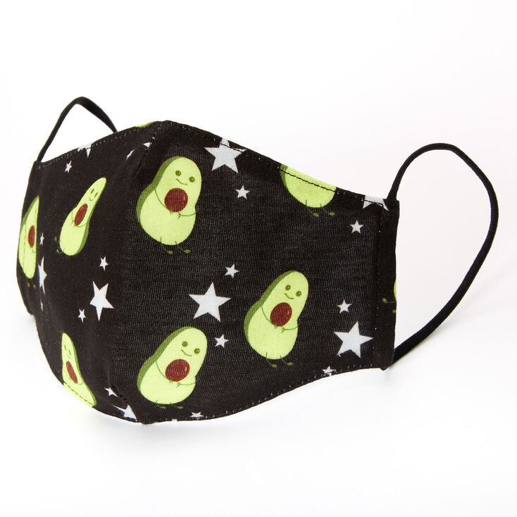 Cotton Black Avocado Face Mask - Adult,