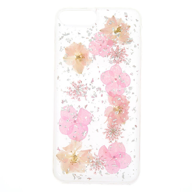 pick up 5b5f2 af713 Pink Pressed Flower Phone Case - Fits iPhone 6/7/8 Plus