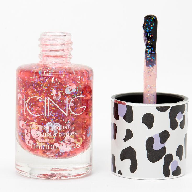 Glitter Nail Polish - Multicolor Leopard,