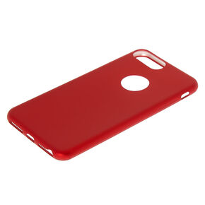 Matte Red Logo Cut Out Phone Case - Fits iPhone 6/7/8 Plus,