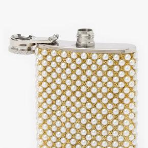 Embellished Pearl Flask - Silver,