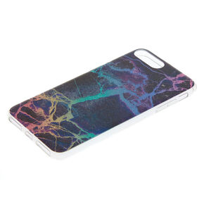 Midnight Cracked Marble Phone Case - Black,