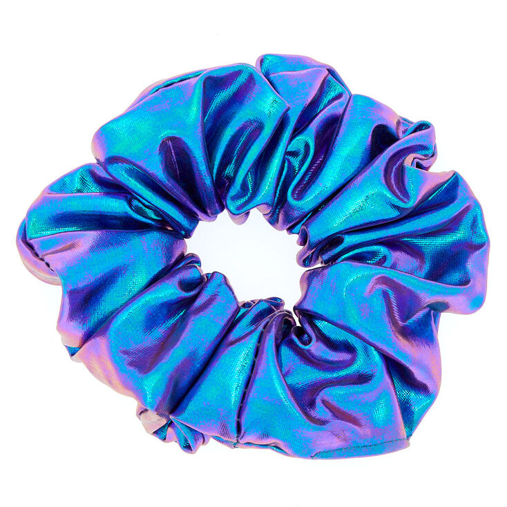 Medium Metallic Mermaid Hair Scrunchie - Purple,