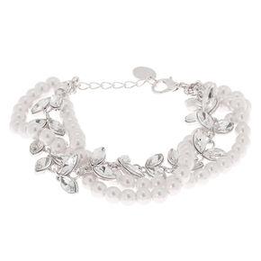 Silver Pearl Vine Chain Bracelet,
