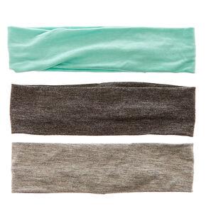 Mint & Gray Headwraps,