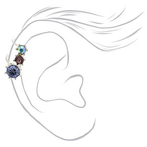 Silver Crystal Ear Cuff,