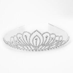 Silver Rhinestone Lotus Princess Tiara,