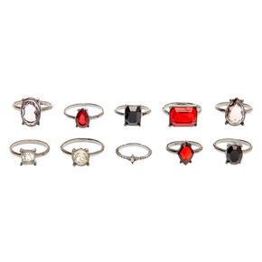 Hematite Glam Rings - 10 Pack,