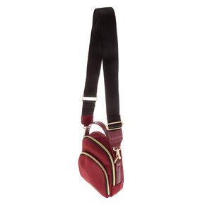Messenger Crossbody Bag - Burgundy,