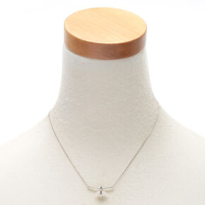 Rose Quartz Compassion Bar Pendant Necklace,