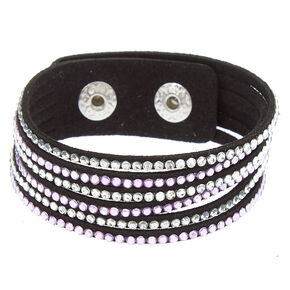 Studded Layered Statement Bracelet - Lilac,